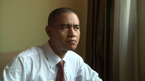 资料图:中国奥巴马模仿者肖基国。